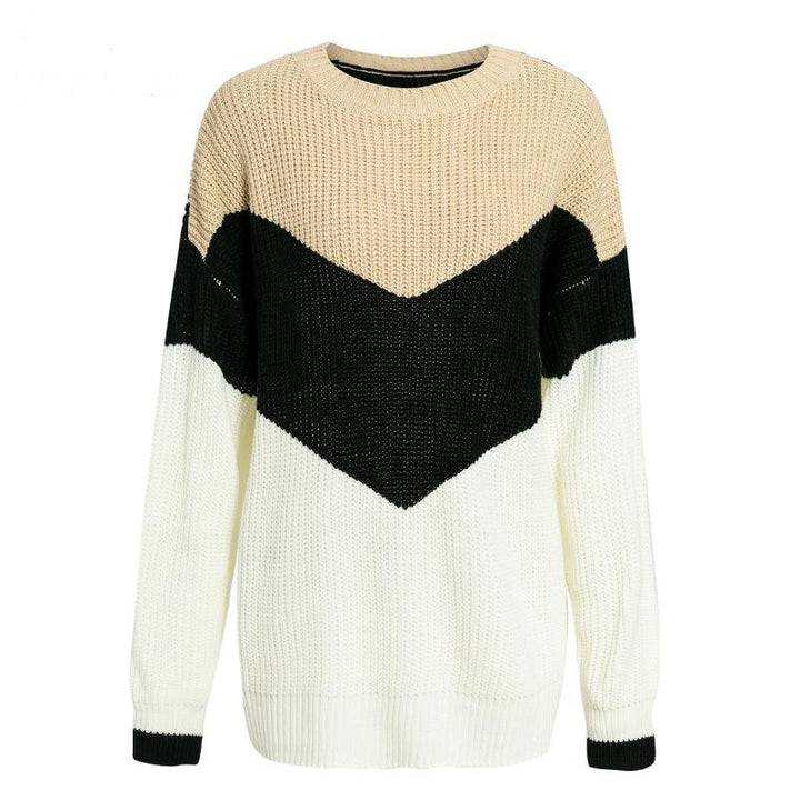 Women's Autumn/Winter Casual Knitted Long-Sleeved Sweater