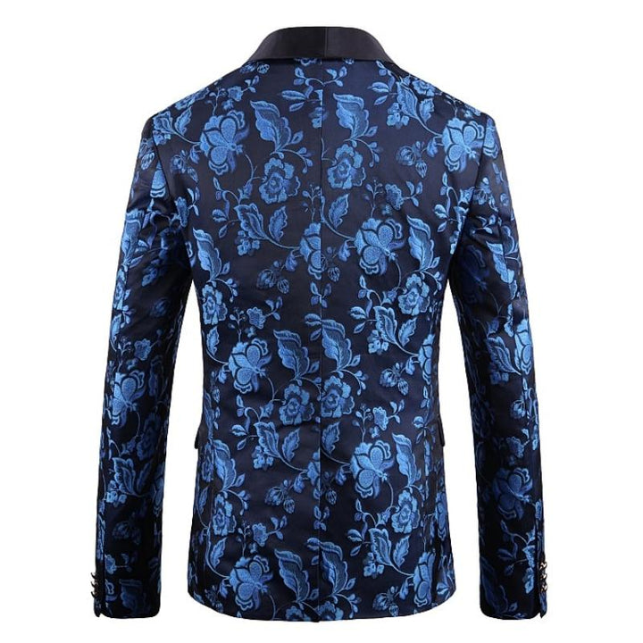 Men's Jacquard Single Breasted Blazer