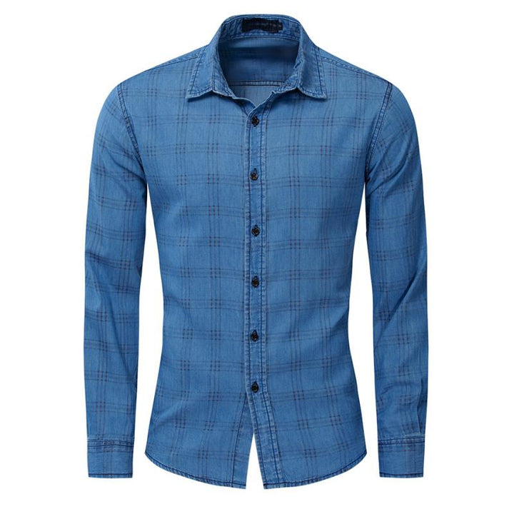 Men's Casual Cotton Long Sleeved Shirt