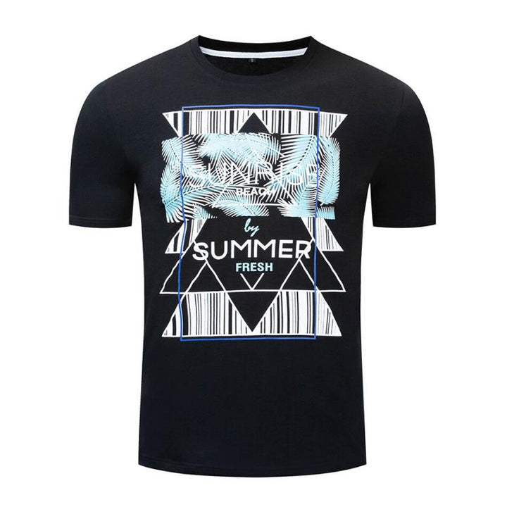 "Men's Summer Casual Cotton O-Neck T-Shirt ""Summer"" 