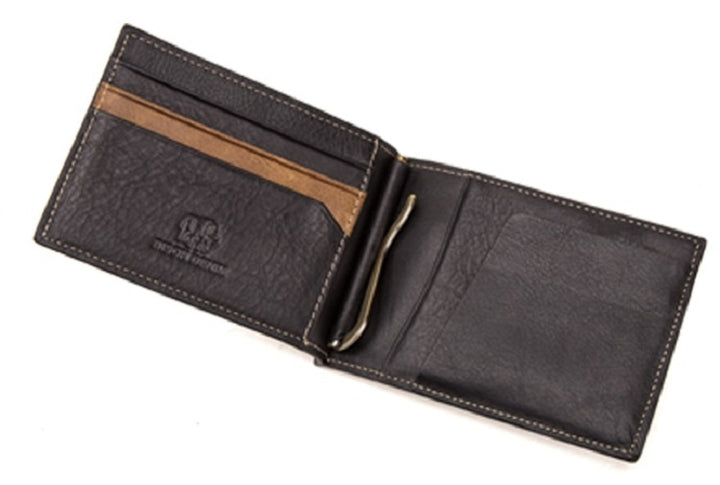 Men's Genuine Leather Short Wallet With Zipper