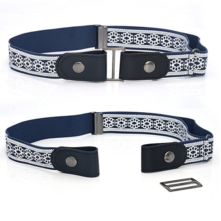 Women's Elastic Belt Without Buckle