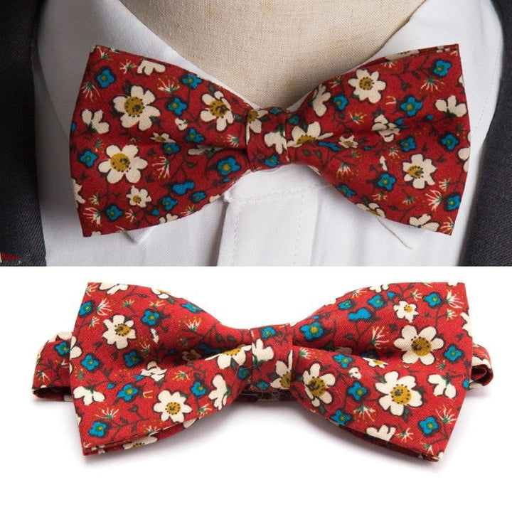 Men's Cotton Bow Tie With Print
