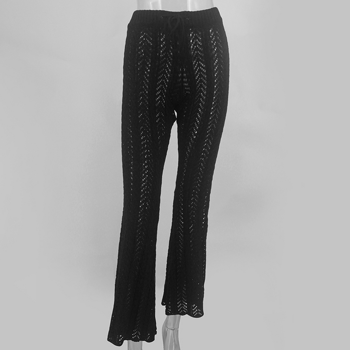 Women's Summer Beach Crochet Loose Knitted Pants