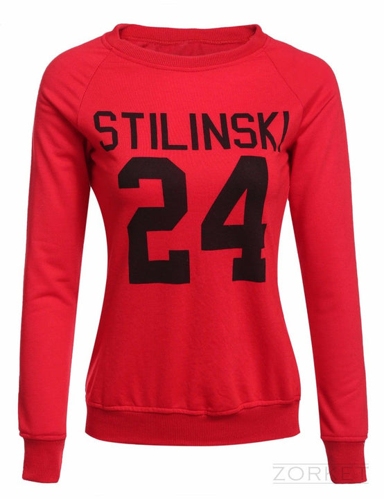 Women's Casual Sweatshirt With A Print - Zorket