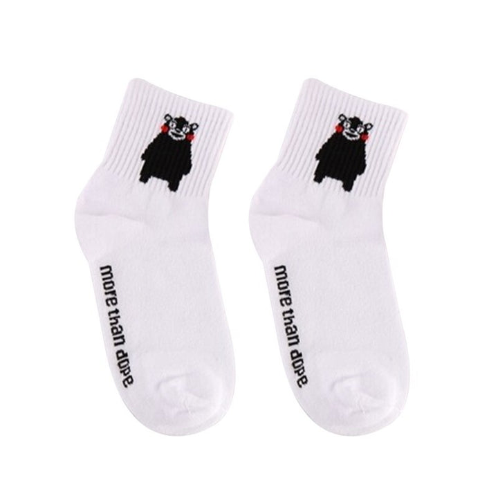 Women's/Men's Casual Cotton Socks With Print