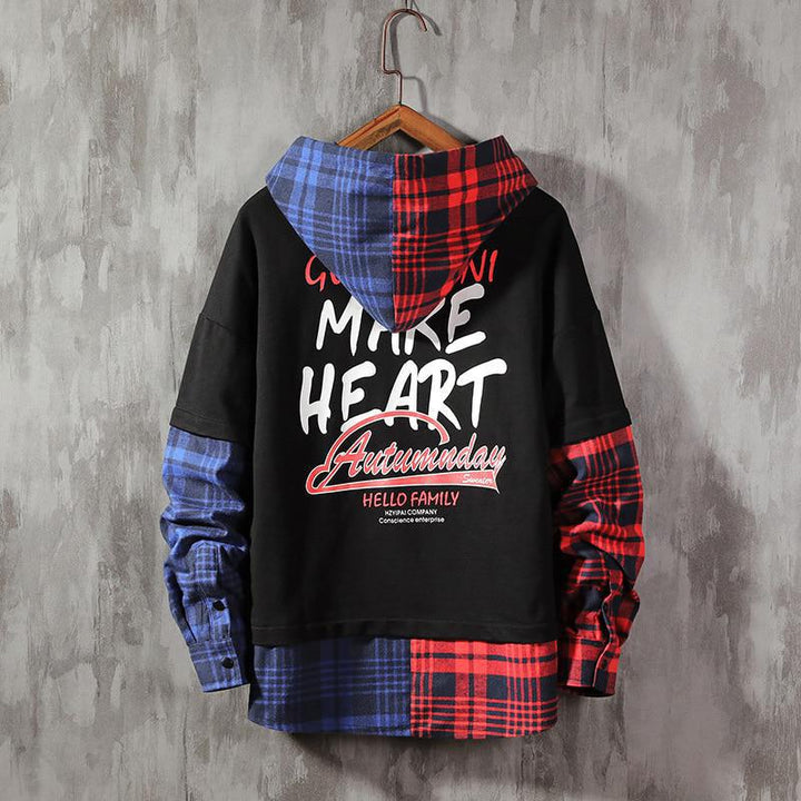"Men's Casual Cotton Hoodie ""Make Heart Hello Family"""