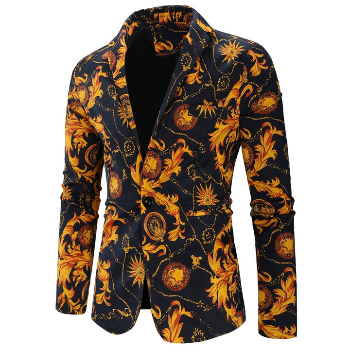 Men's Wedding Blazer With Print