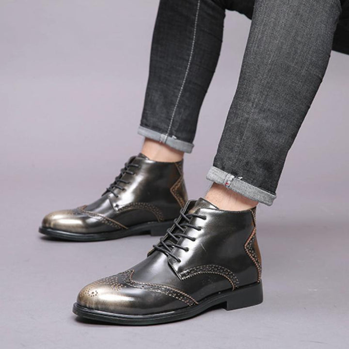 Men's Leather Ankle Boots | Plus Size