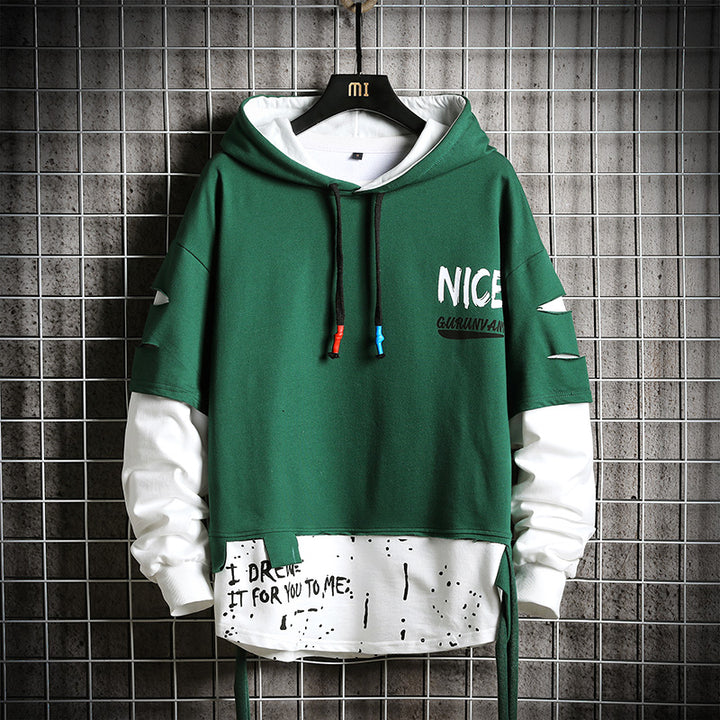 "Men's Hooded Sweatshirt ""Nice"""