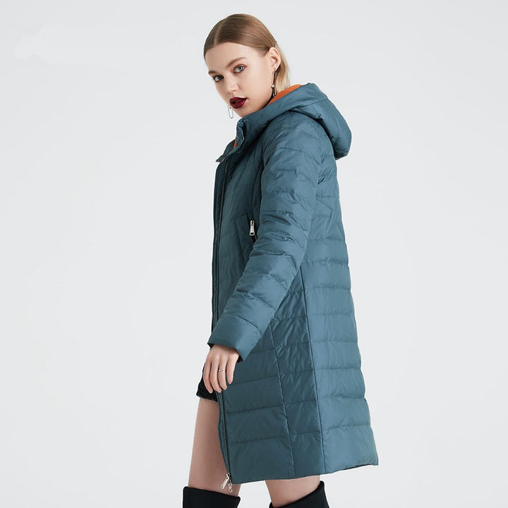 Women's Spring/Autumn Polyester Windproof Coat With Zippers
