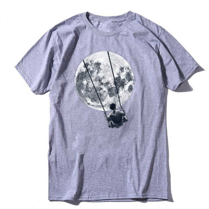 Men's Summer Casual Cotton Loose T-Shirt With Print