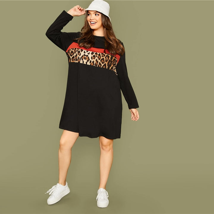 Women's Spring Casual Loose Long-Sleeved Dress | Plus Size