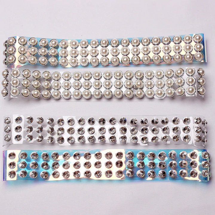 Women's Summer Transparent Belt With Pearls