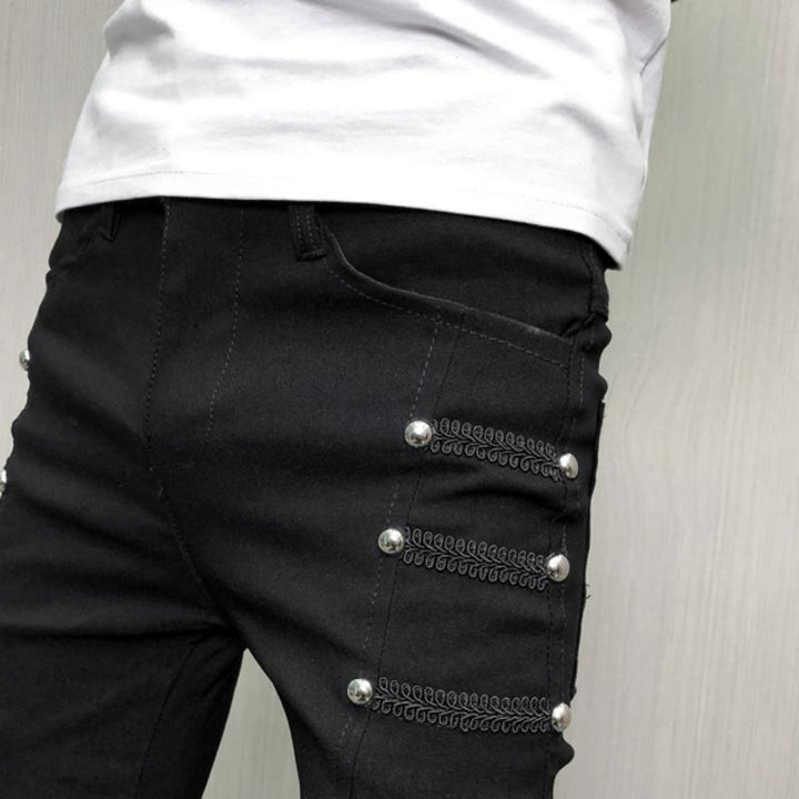 Men's Summer Slim Fit Trousers With Rivets