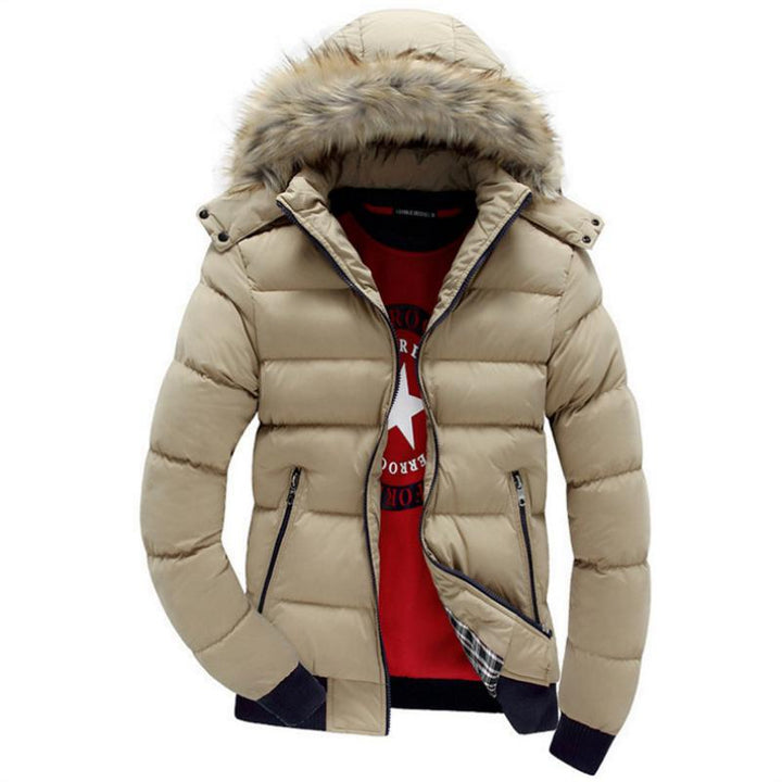 Men's Winter Casual Hooded Down Jacket
