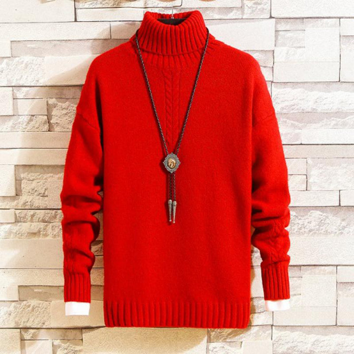 Men's Autumn/Winter Casual Warm Cashmere Turtleneck Sweater