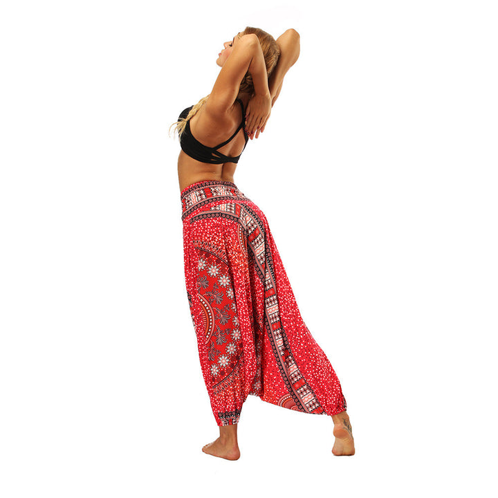 Women's Summer Casual Harem Pants With Print