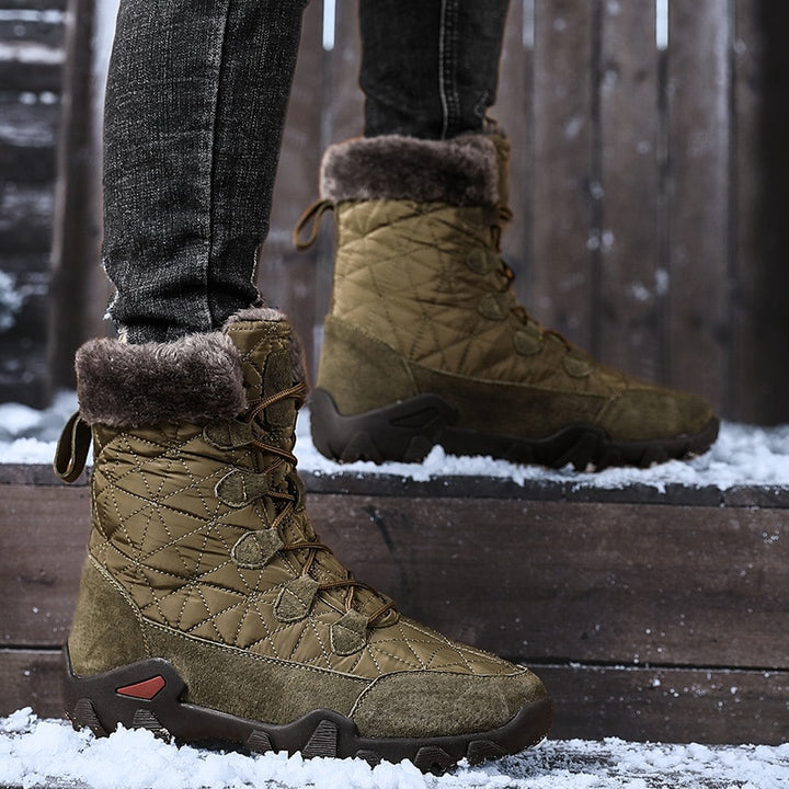 Men's Winter Casual Waterproof Boots With Fur