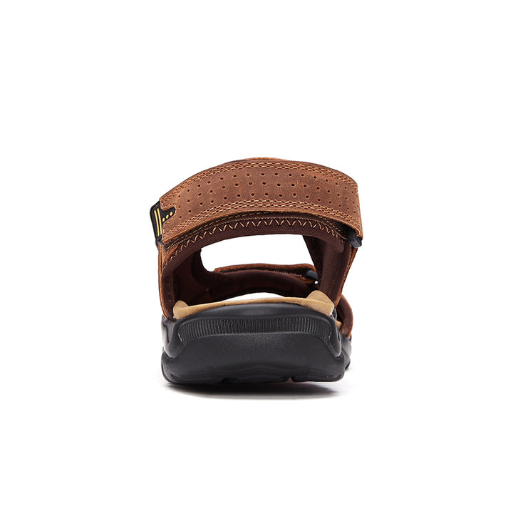 Men's Summer Genuine Leather Sandals | Plus Size