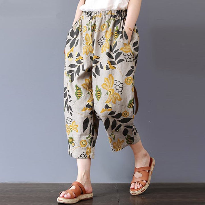 Women's Summer Casual Loose Elastic Waist Pants With Print