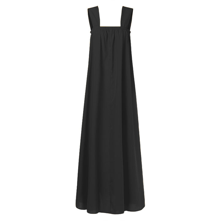 Women's Summer Casual Polyester Sleeveless Maxi Dress