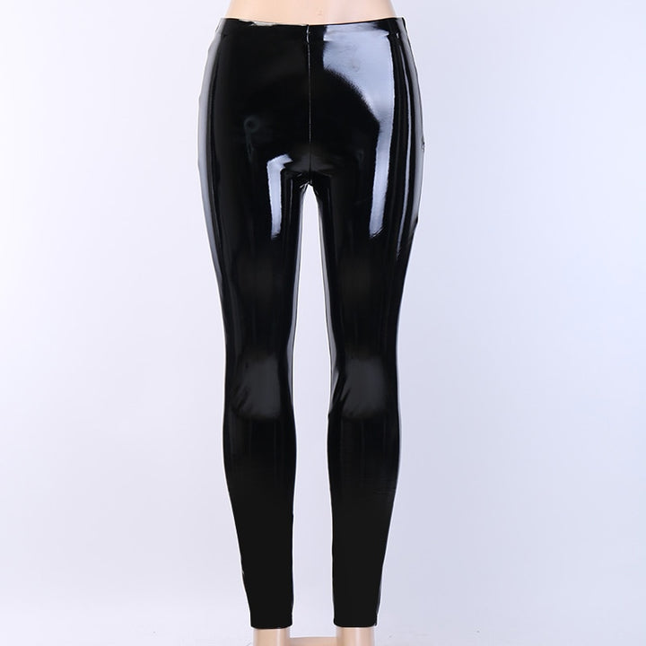 Women's Skinny Faux Leather Zipper Pants