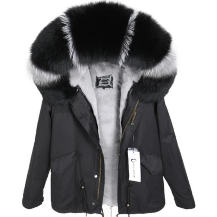 Women's Winter Casual Slim Warm Parka With Raccoon Fur