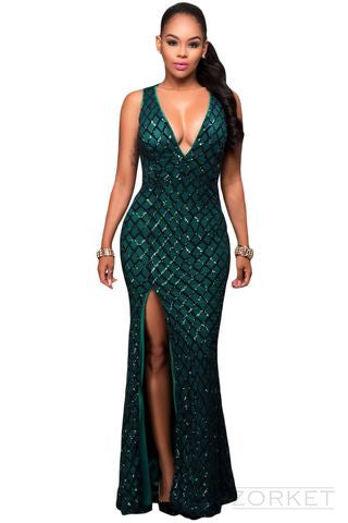 Women's Long Formal Sleeveless Dress - Zorket