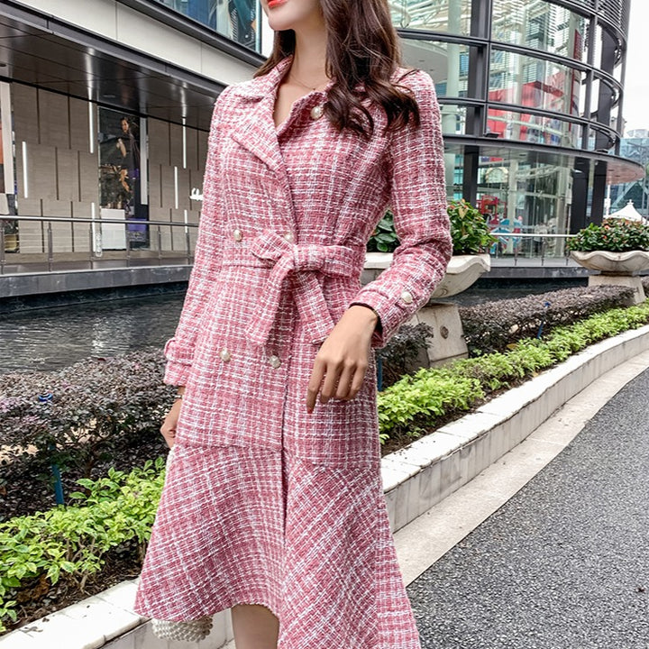 Women's Autumn/Winter Think Wool Slim Trench