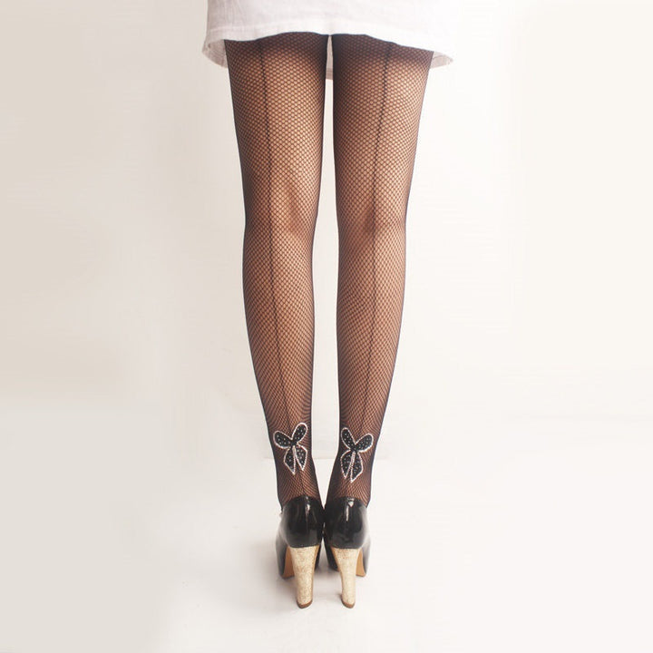 Women's Nylon Thin Tights With Back Seam