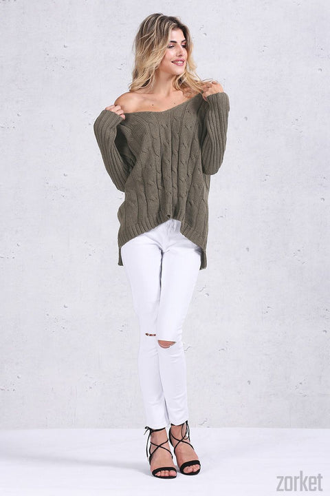 Backless Knitted Sweater for Autumn Season - Zorket