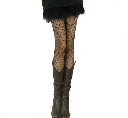 Women's Fishnet Pattern Jacquard Pantyhose