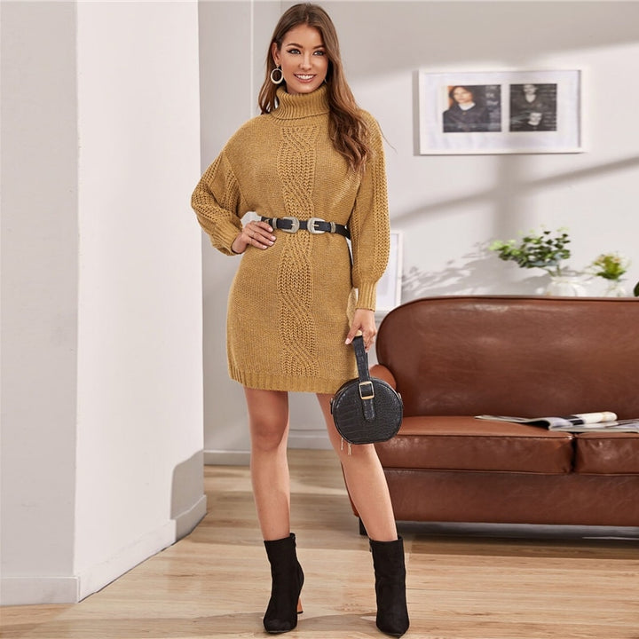 Women's Autumn Casual Acrylic Loose Sweater Dress