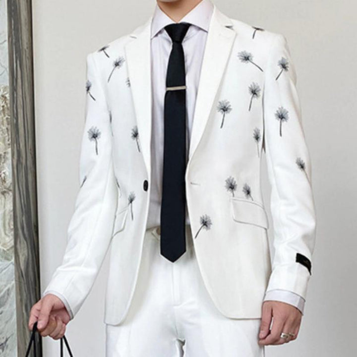 Men's Spring Blazer With Embroidery