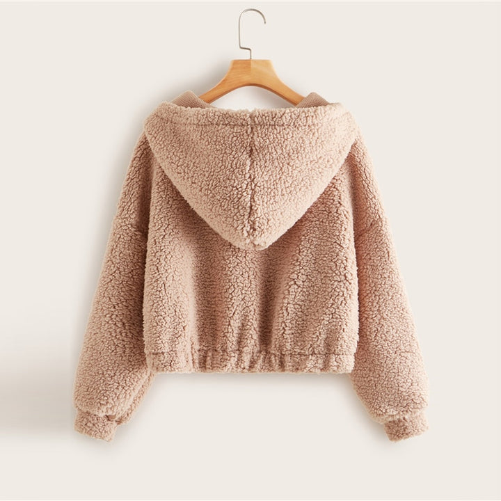 Women's Spring Casual V-Neck Hooded Sweater