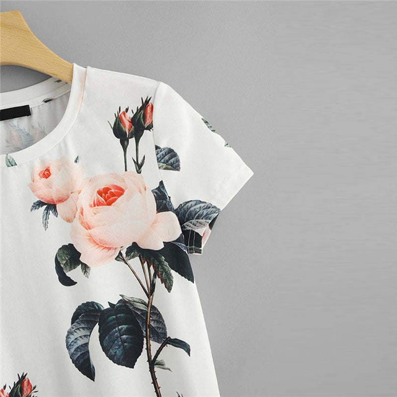 Women's Summer Casual O-Neck Short-Sleeved T-Shirt With Print