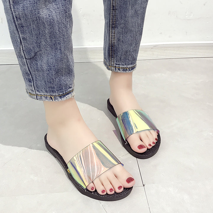 Women's Summer Transparent Beach Flip Flops