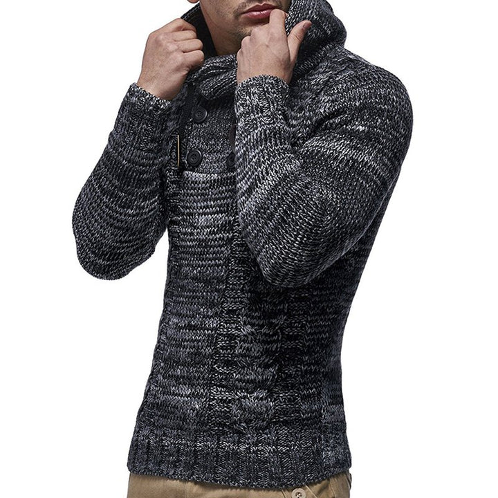 Men's Autumn/Winter Knitted Hooded Sweater | Plus Size