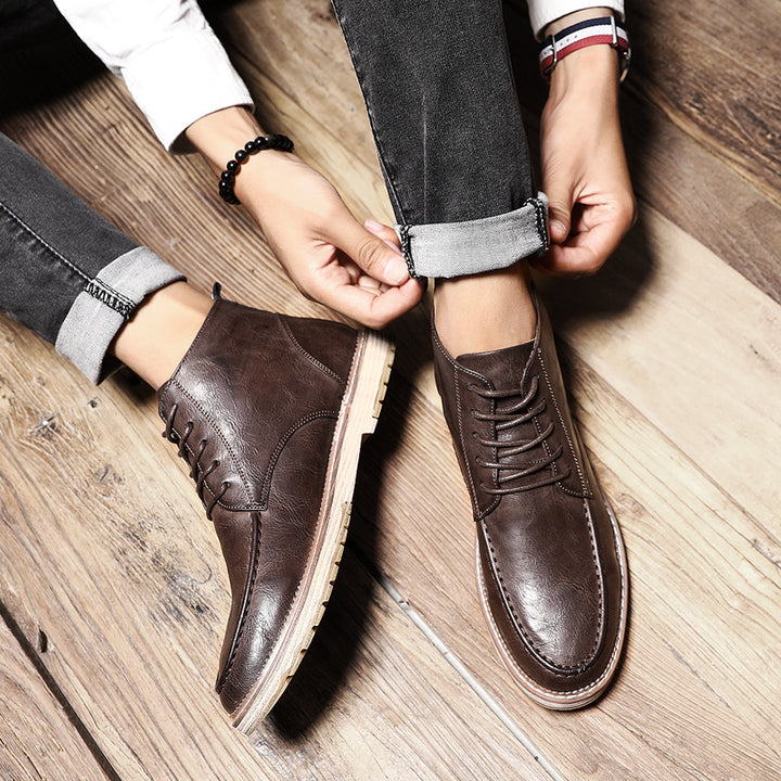 Men's Autumn/Winter Casual Laced Up Ankle Boots