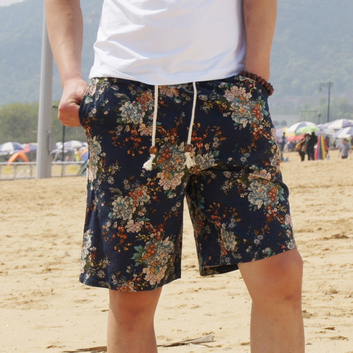 Men's Summer Casual Beach Cotton Shorts