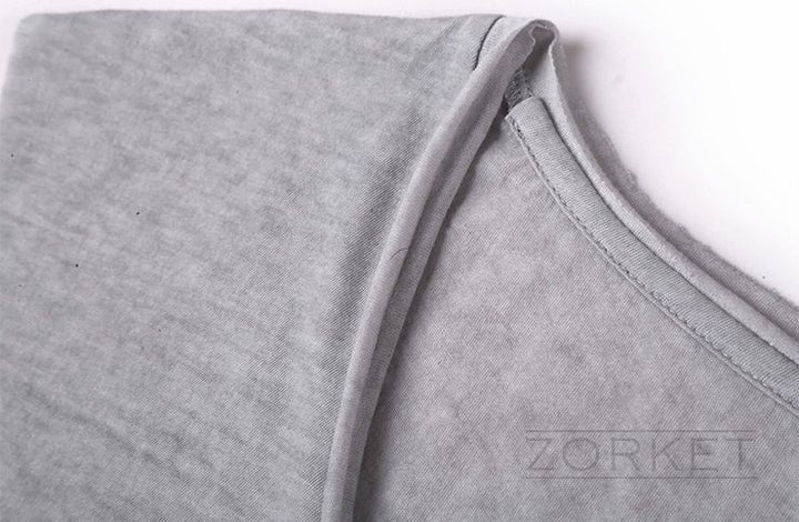 Retro Style T-Shirt With V-Neck For Men - Zorket