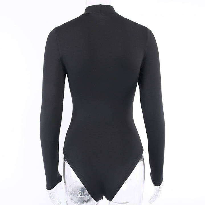 Women's Autumn Skinny High Neck Bodysuit