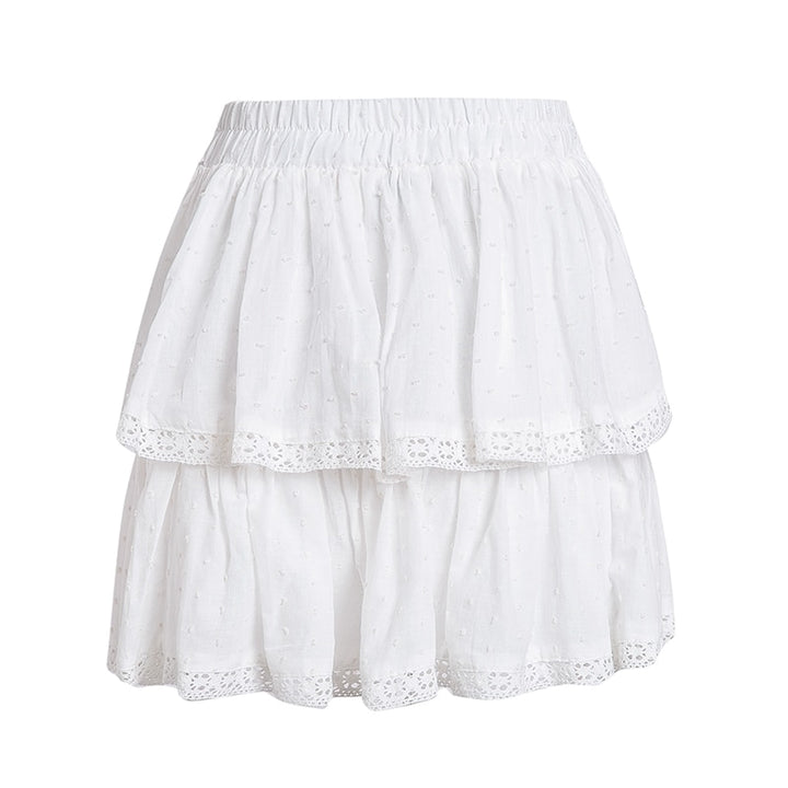 Women's Summer Casual High-Waist Skirt With Polka Dot Print
