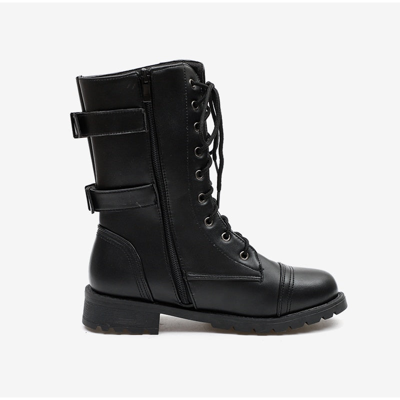 Women's Autumn Platform Lace Up Boots | Plus Size