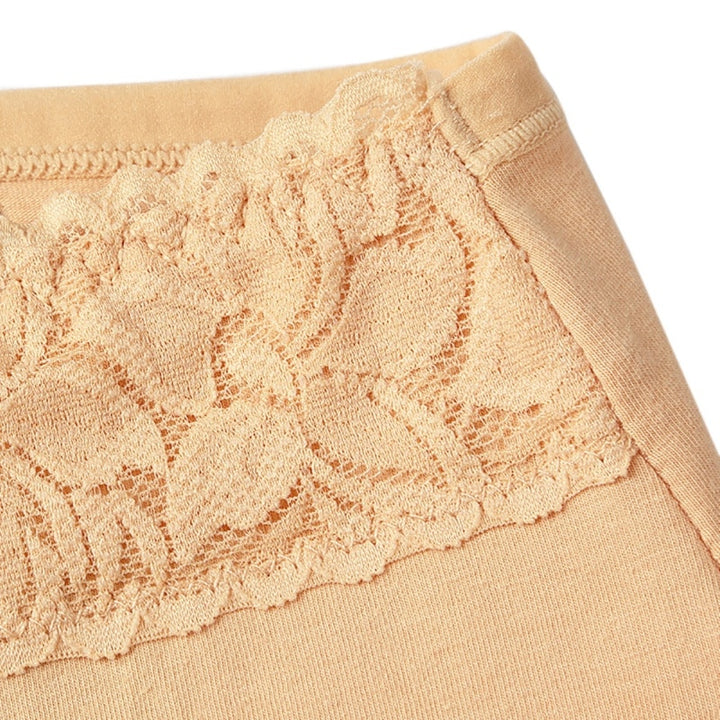 Women's Cotton Warm Seamless Panties With Lace