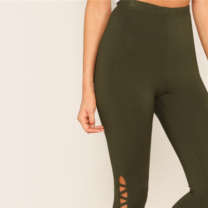 Women's Stretchy High-Waist Fitness Leggings