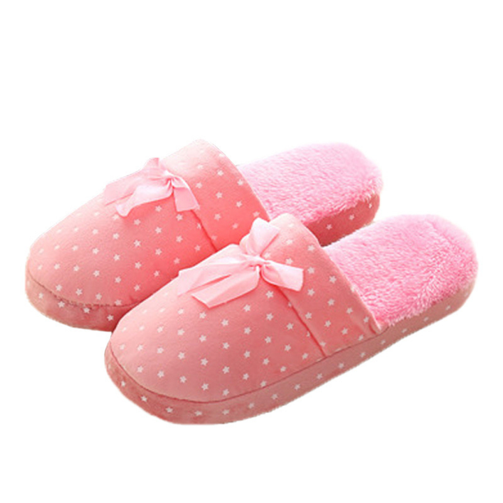 Women's Autumn/Winter Warm Cotton Soft Home Slippers