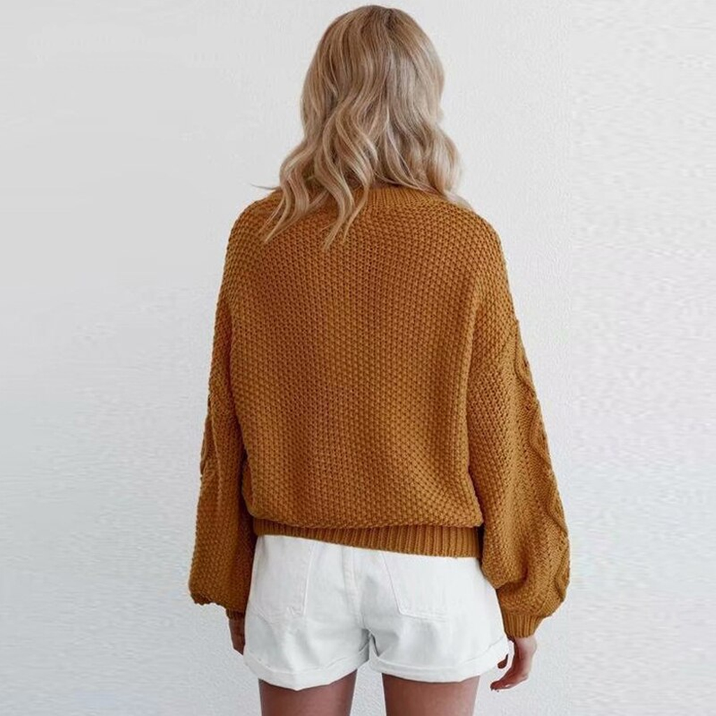 Women's Autumn/Winter Knitted Long Sleeve Sweater