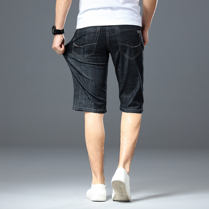 Men's Summer Denim Elastic Slim Shorts | Plus Size